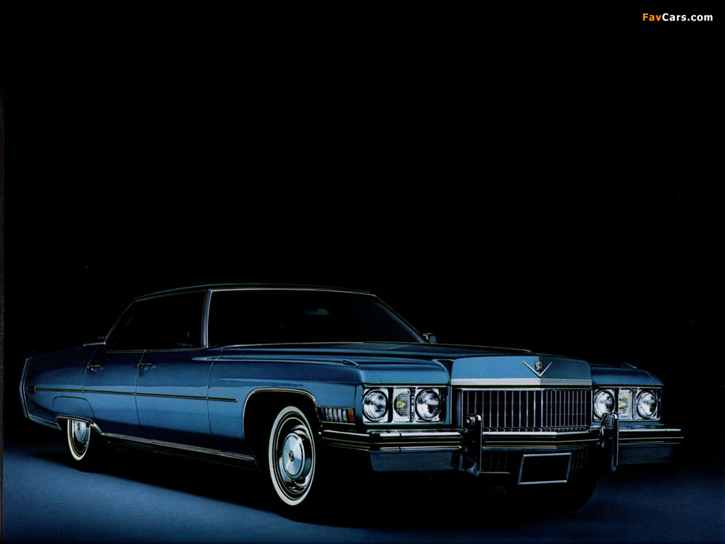 Images of Cadillac Sedan de Ville 1973 (1024 x 768)