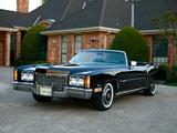 Pictures of Cadillac Fleetwood Eldorado Convertible (L67-E) 1972