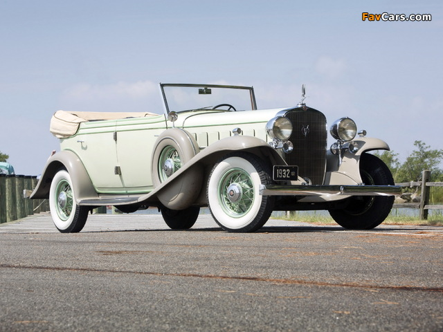 Cadillac V16 452-B All Weather Phaeton by Fisher (32-16-273) 1932 wallpapers (640 x 480)