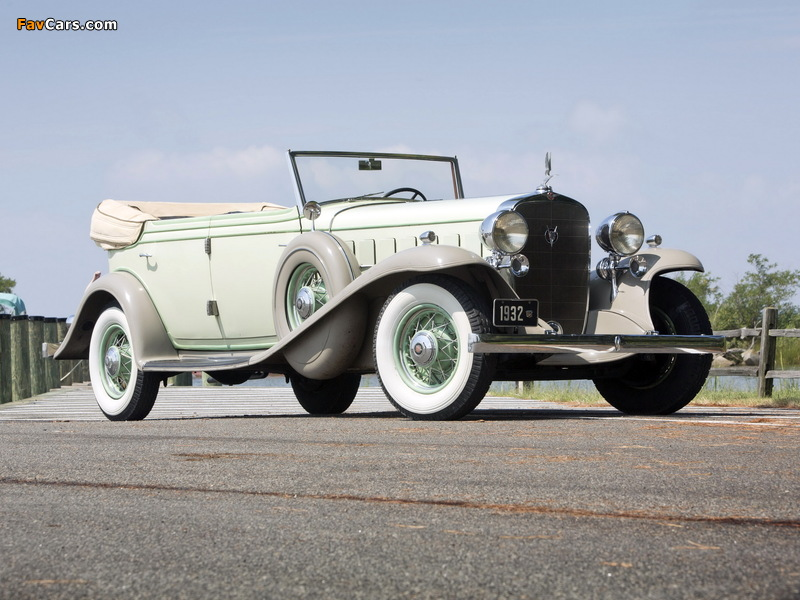 Cadillac V16 452-B All Weather Phaeton by Fisher (32-16-273) 1932 wallpapers (800 x 600)