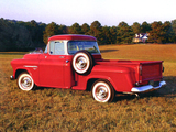 Chevrolet 3100 Stepside Pickup (H-3104) 1955 pictures