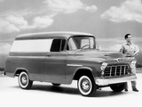 Chevrolet 3100 Cameo Panel (H-3105) 1955 wallpapers