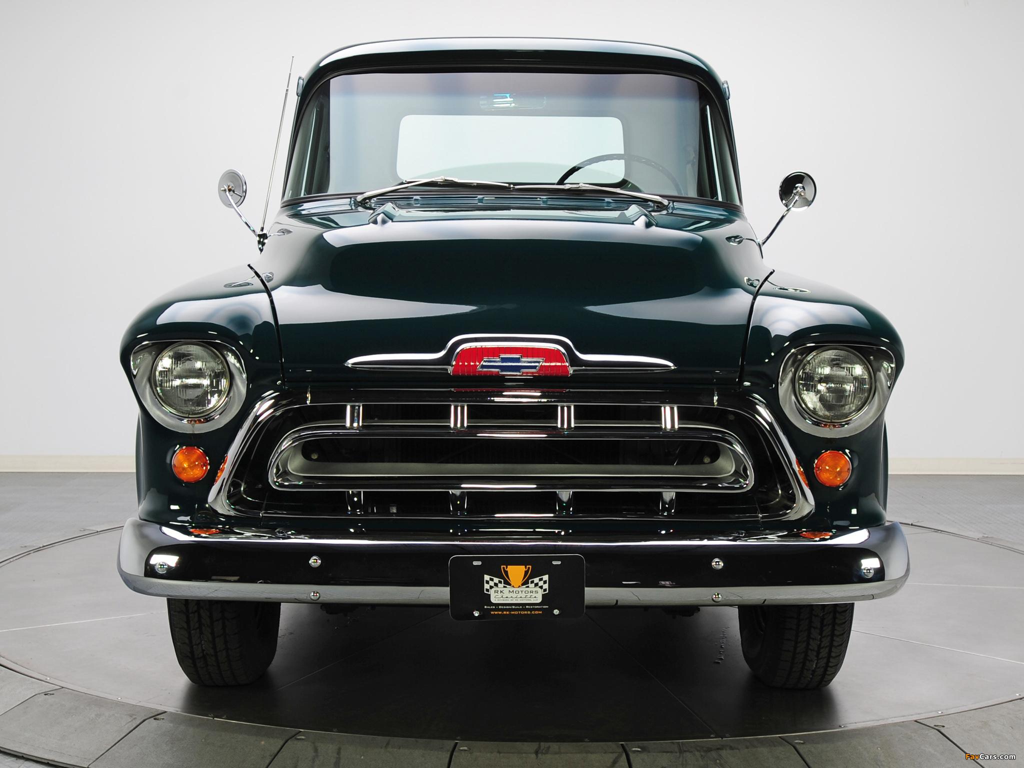 Chevrolet 3100 Stepside Pickup (3A-3104) 1957 images (2048 x 1536)