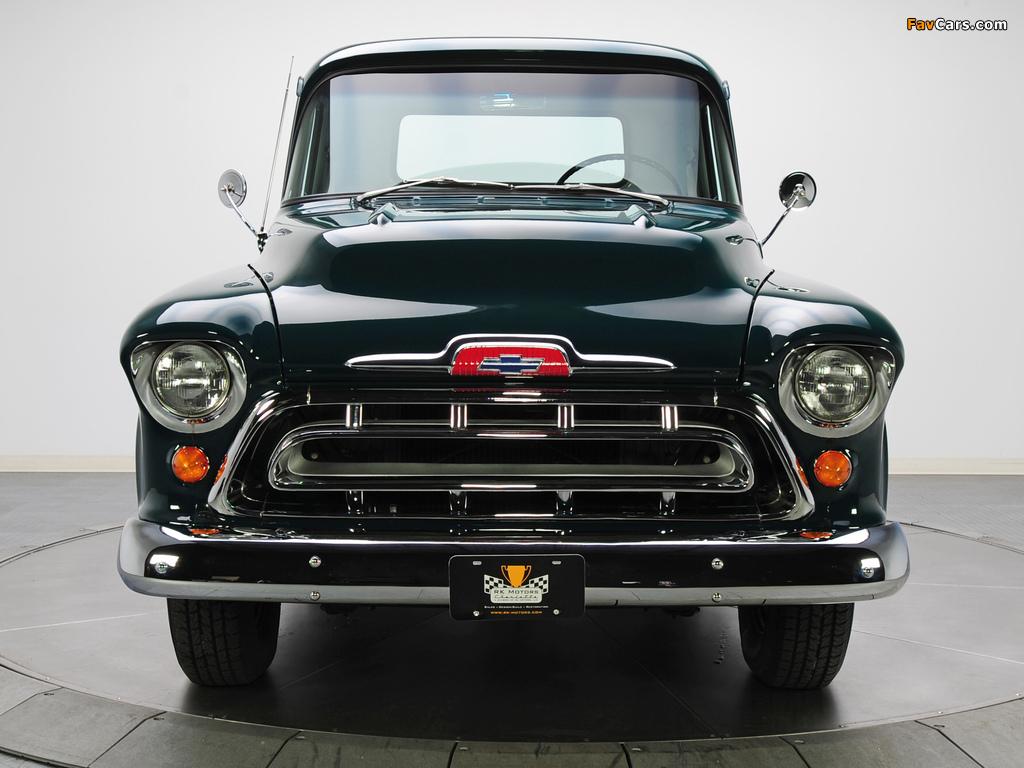 Chevrolet 3100 Stepside Pickup (3A-3104) 1957 images (1024 x 768)