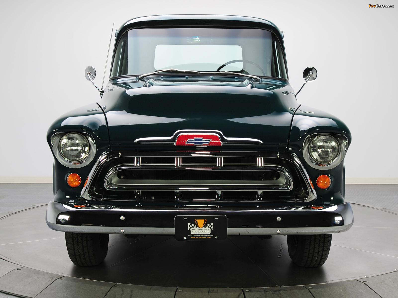 Chevrolet 3100 Stepside Pickup (3A-3104) 1957 images (1600 x 1200)