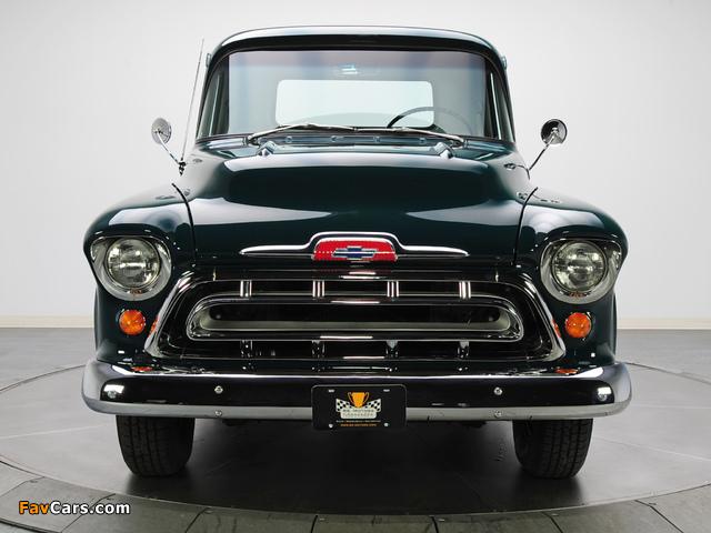 Chevrolet 3100 Stepside Pickup (3A-3104) 1957 images (640 x 480)
