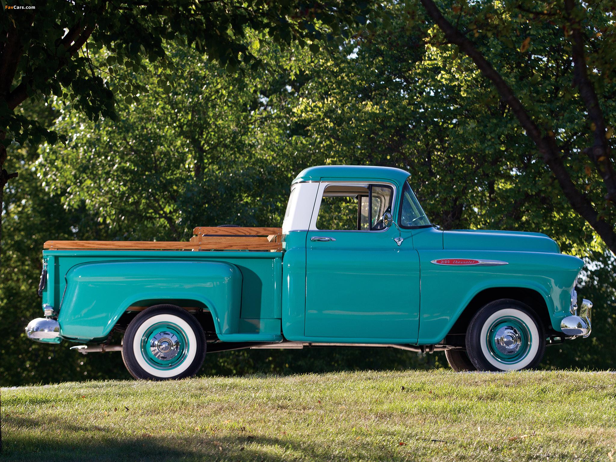 Chevrolet 3100 Stepside Pickup (3A-3104) 1957 photos (2048 x 1536)