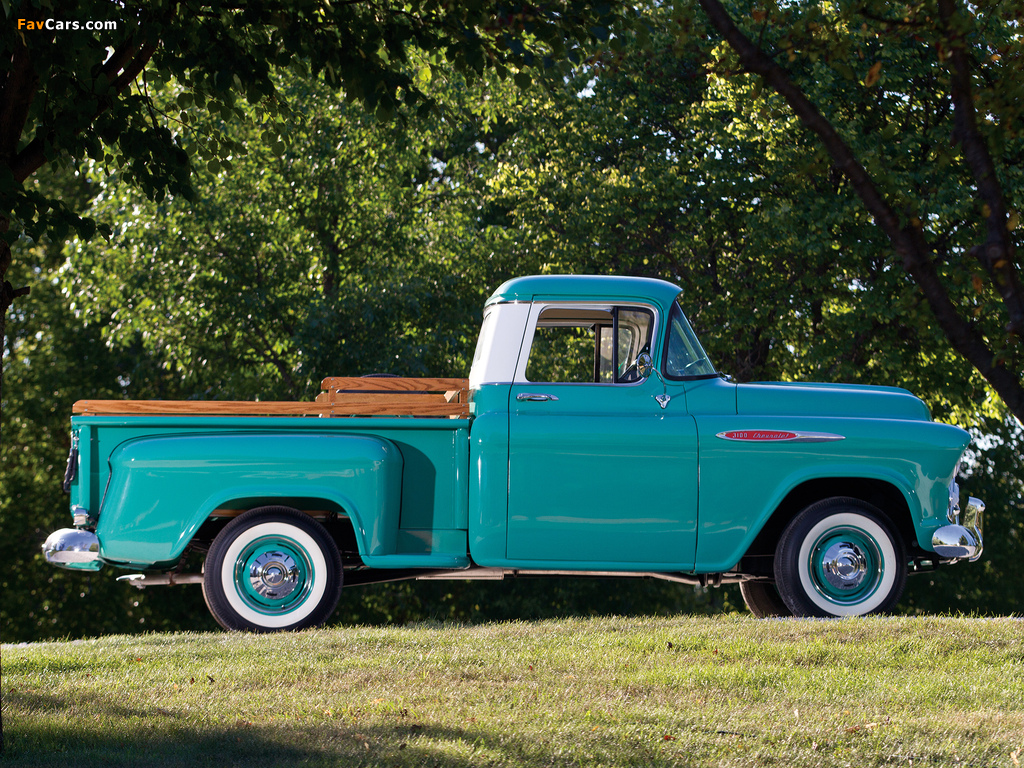 Chevrolet 3100 Stepside Pickup (3A-3104) 1957 photos (1024 x 768)