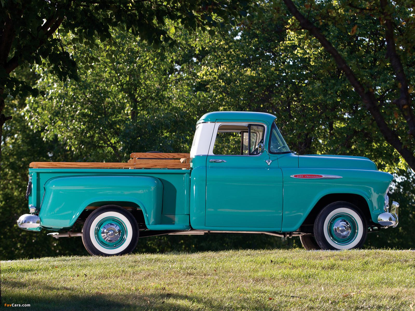Chevrolet 3100 Stepside Pickup (3A-3104) 1957 photos (1600 x 1200)