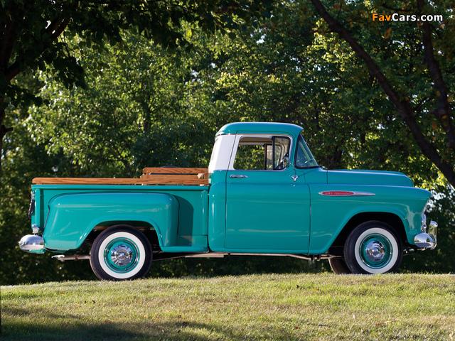 Chevrolet 3100 Stepside Pickup (3A-3104) 1957 photos (640 x 480)