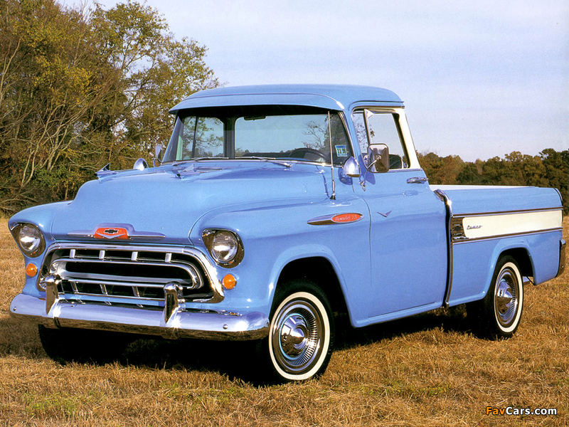 Chevrolet 3100 Cameo Fleetside Pickup (3A-3124) 1957 pictures (800 x 600)