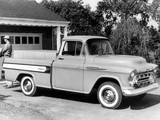 Chevrolet 3100 Cameo Fleetside Pickup (3A-3124) 1957 wallpapers