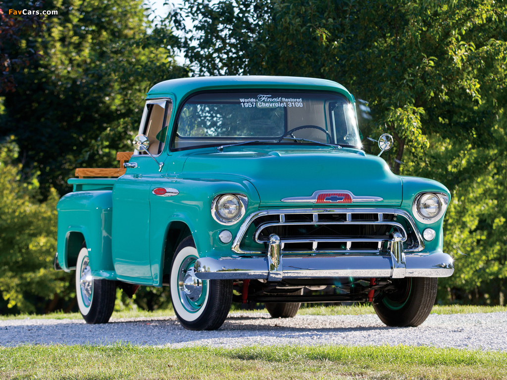 Chevrolet 3100 Stepside Pickup (3A-3104) 1957 wallpapers (1024 x 768)