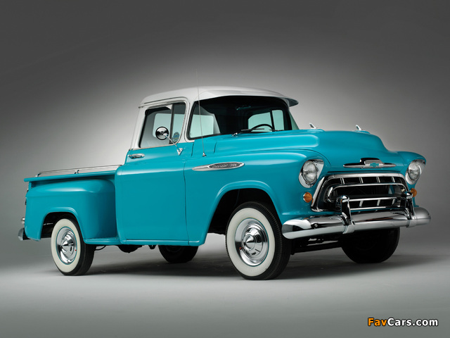 Images of Chevrolet 3100 Stepside Pickup (3A-3104) 1957 (640 x 480)