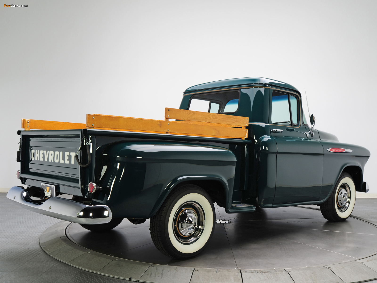 Images of Chevrolet 3100 Stepside Pickup (3A-3104) 1957 (1600 x 1200)