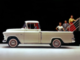 Photos of Chevrolet 3100 Cameo Fleetside Pickup 1955