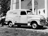 Pictures of Chevrolet 3100 DeLuxe Panel Truck (FP-3105) 1948