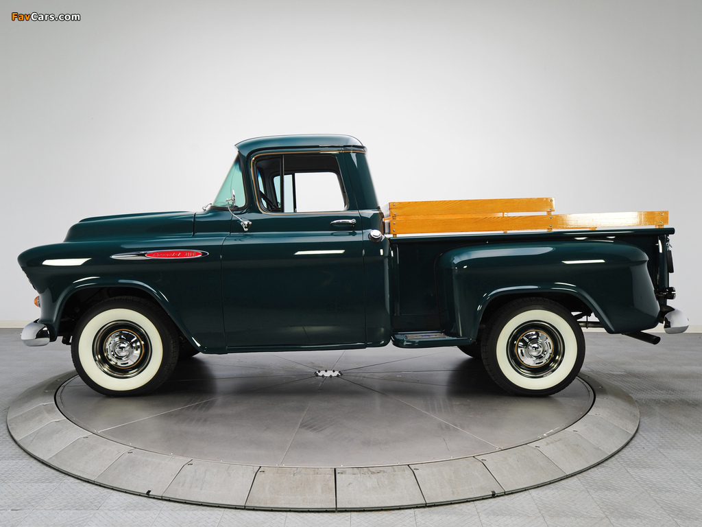Pictures of Chevrolet 3100 Stepside Pickup (3A-3104) 1957 (1024 x 768)