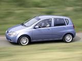 Images of Chevrolet Aveo 5-door (T200) 2003–08