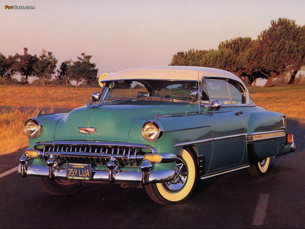 Chevrolet Bel Air Sport Coupe (2454-1037D) 1954 photos (1024 x 768)