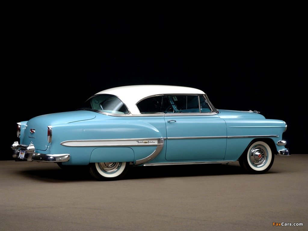 Images of Chevrolet Bel Air Sport Coupe (2454-1037D) 1954 (1024 x 768)