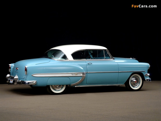 Images of Chevrolet Bel Air Sport Coupe (2454-1037D) 1954 (640 x 480)