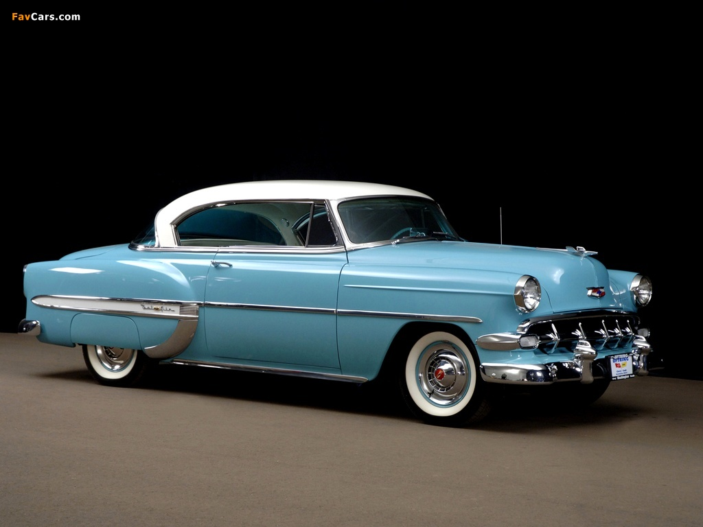 Pictures of Chevrolet Bel Air Sport Coupe (2454-1037D) 1954 (1024 x 768)