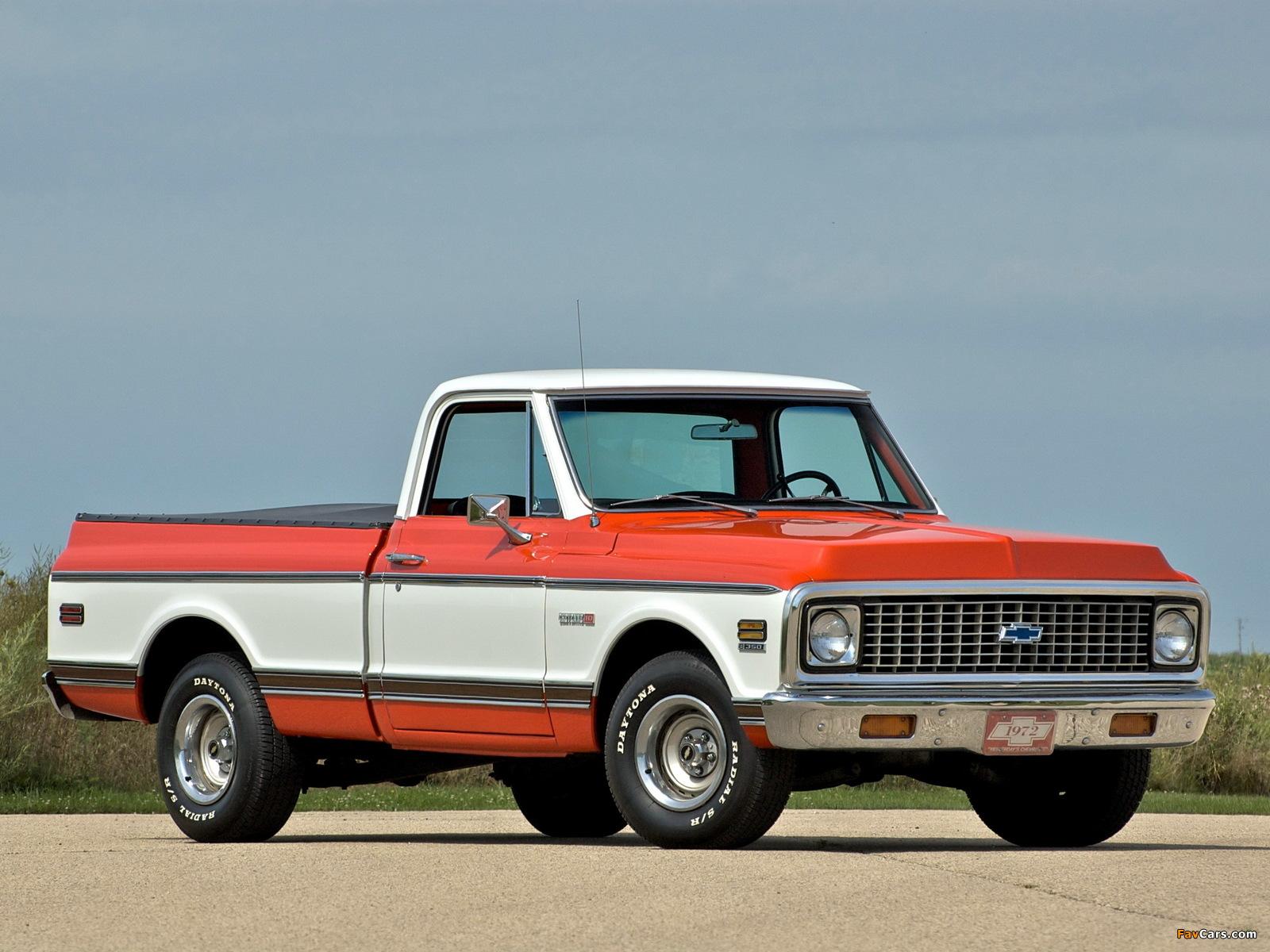 Chevrolet C10 Cheyenne Pickup 1971 72 Wallpapers 1600x1200