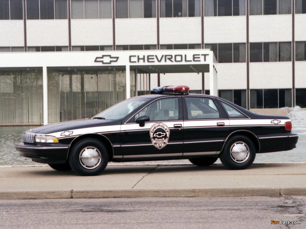 Chevrolet Caprice Classic Police 1993 96 Photos 1024x768