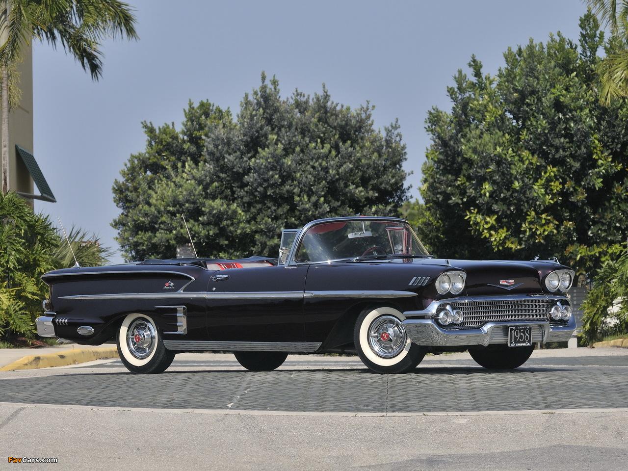 Chevrolet Bel Air >> Photos of Chevrolet Bel Air Impala 348 Super Turbo-Thrust Tri-Power Convertible 1958 (1280x960)