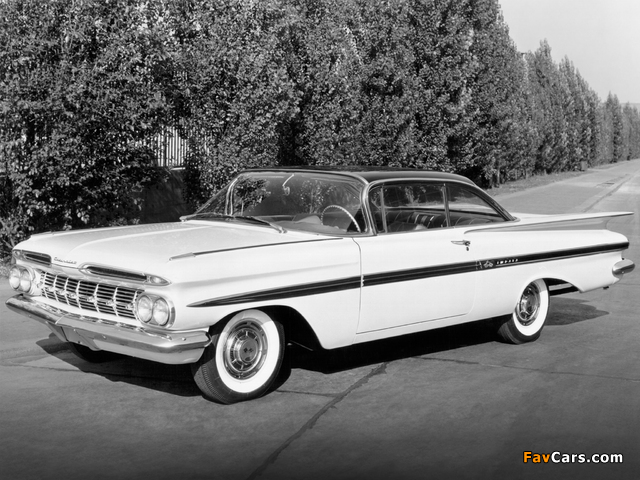 Chevrolet Impala Sport Coupe 1959 wallpapers (640 x 480)