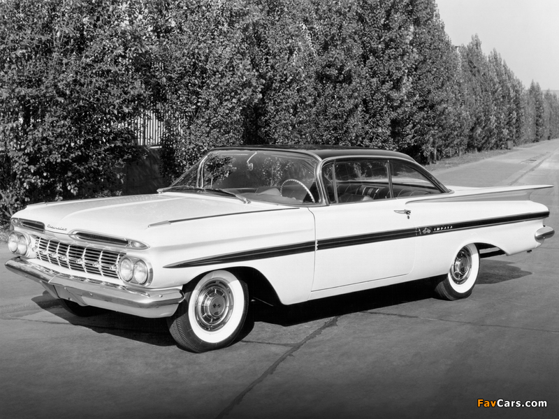 Chevrolet Impala Sport Coupe 1959 wallpapers (800 x 600)