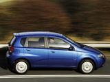 Chevrolet Kalos 5-door UK-spec (T200) 2003–08 pictures