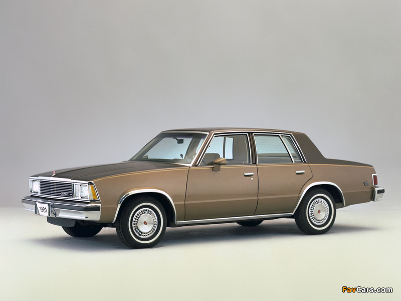 Pictures of Chevrolet Malibu Classic Sedan 1981 (800 x 600)