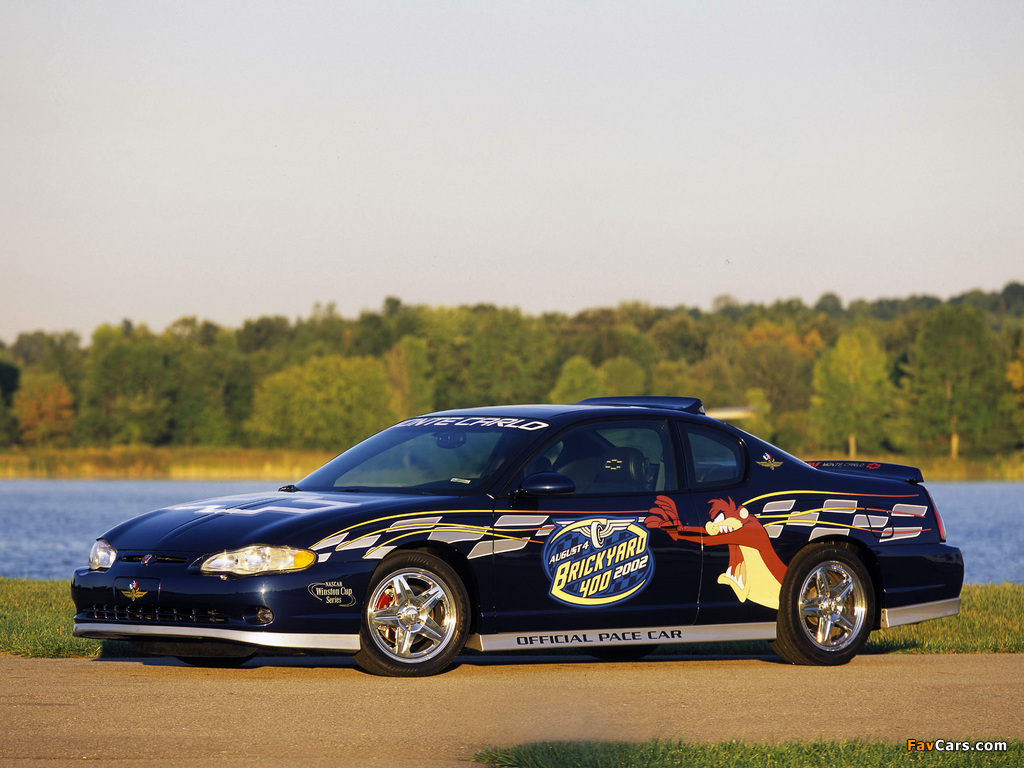 Chevrolet Monte Carlo Brickyard 400 Pace Car 2002 pictures (1024 x 768)