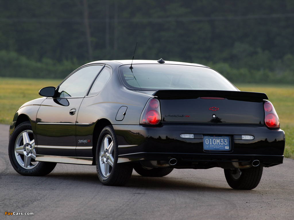 Chevrolet Monte Carlo Supercharged SS 2004–05 pictures (1024 x 768)