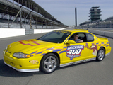 Images of Chevrolet Monte Carlo Brickyard 400 Pace Car 2001