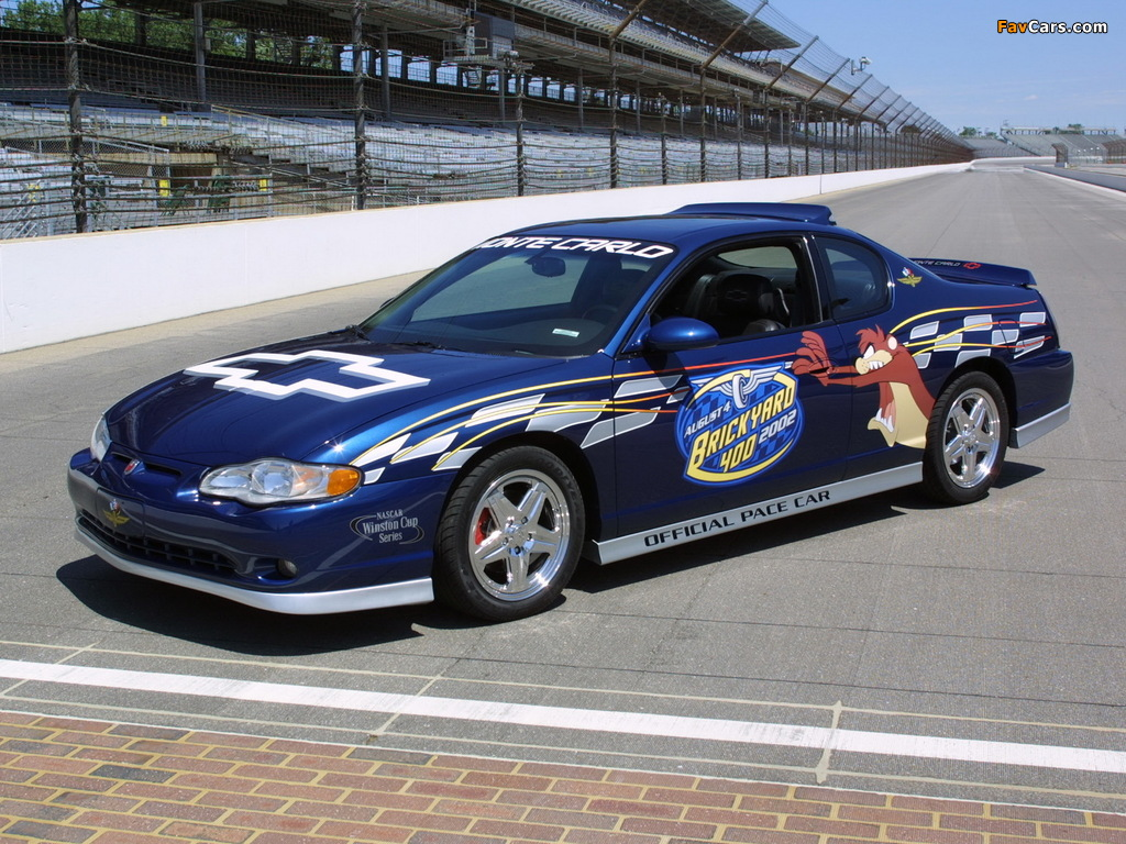 Pictures of Chevrolet Monte Carlo Brickyard 400 Pace Car 2002 (1024 x 768)