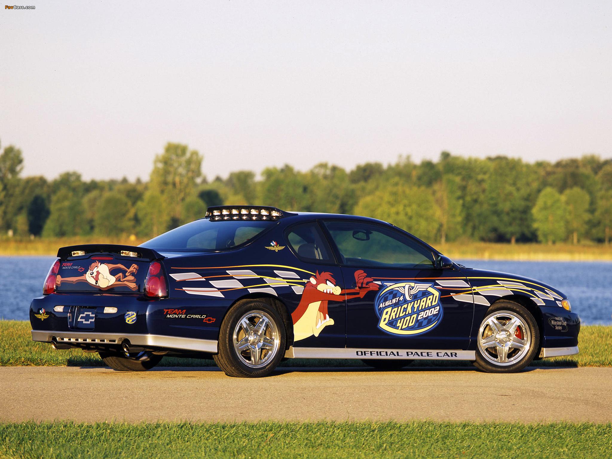 Chevrolet Monte Carlo Brickyard 400 Pace Car 2002 wallpapers (2048 x 1536)