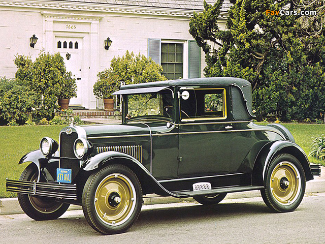 Chevrolet Series V Coupe 1927 wallpapers (640 x 480)
