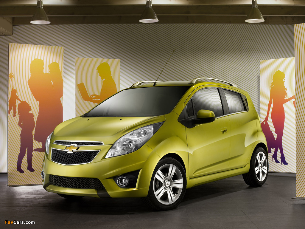 Chevrolet Spark (M300) 2010–13 wallpapers (1024 x 768)