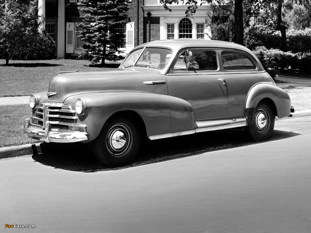 Pictures of Chevrolet Stylemaster 2-door Town Sedan 1948 (1024 x 768)