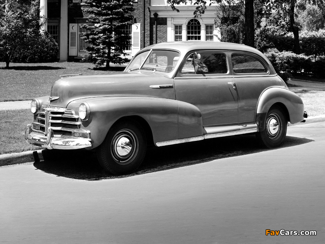 Pictures of Chevrolet Stylemaster 2-door Town Sedan 1948 (640 x 480)