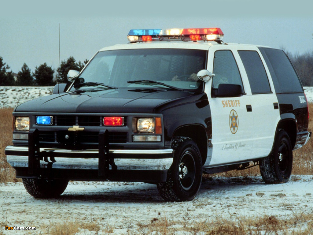 Pictures of chevrolet tahoe police gmt410 1997 98