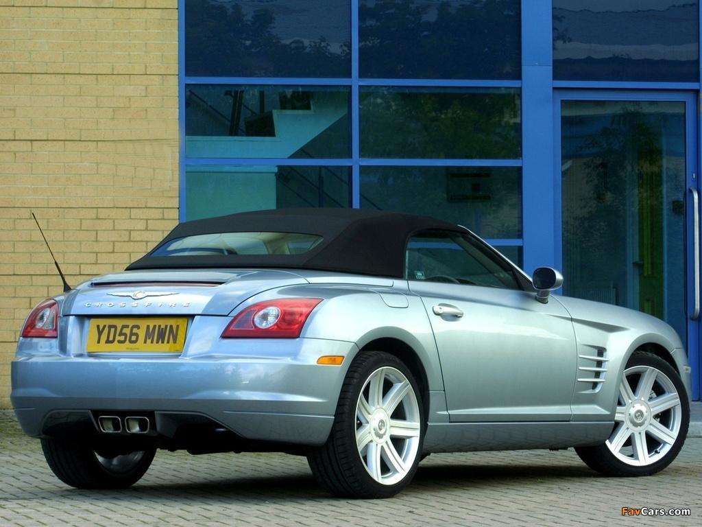 Images of Chrysler Crossfire Roadster UK-spec 2005–07 (1024 x 768)