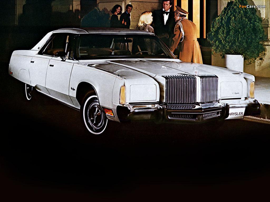 Chrysler New Yorker Brougham Hardtop Sedan (CS43) 1977 pictures (1024 x 768)