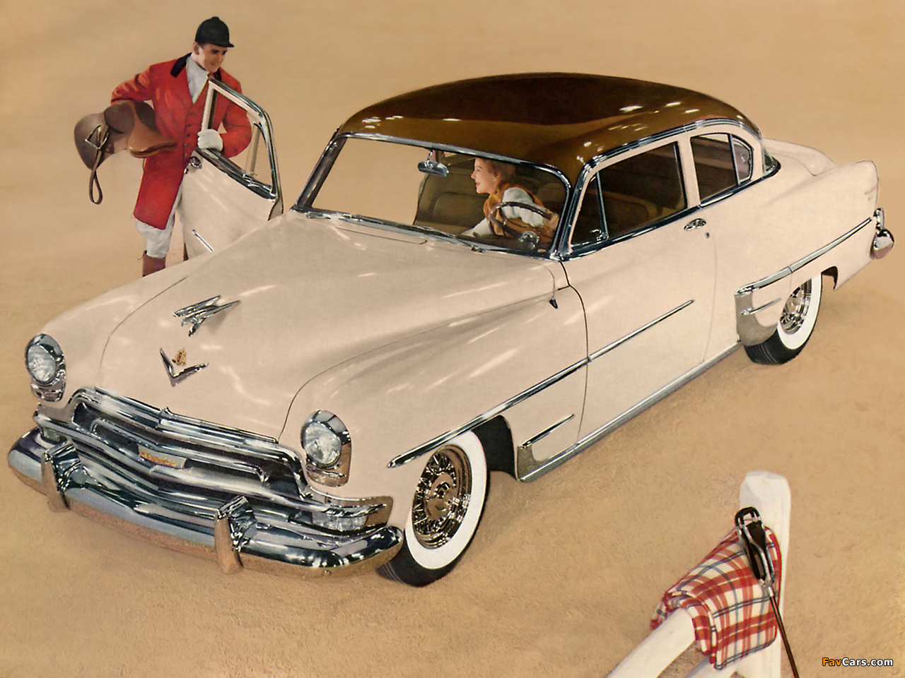 Photos of Chrysler New Yorker DeLuxe Club Coupe 1954 (1280 x 960)