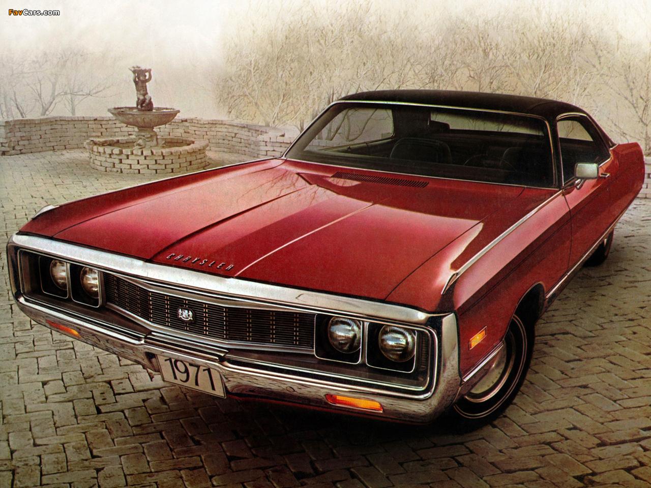 Chrysler New Yorker 2-door Hardtop 1971 wallpapers (1280 x 960)