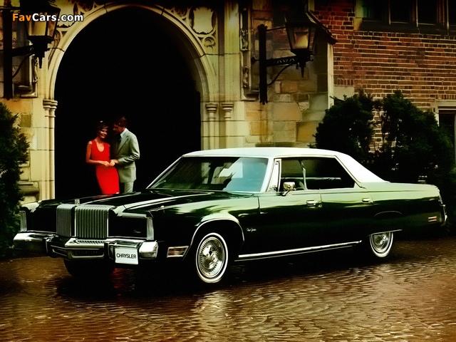 Chrysler New Yorker Brougham Hardtop Sedan (CS43) 1977 wallpapers (640 x 480)