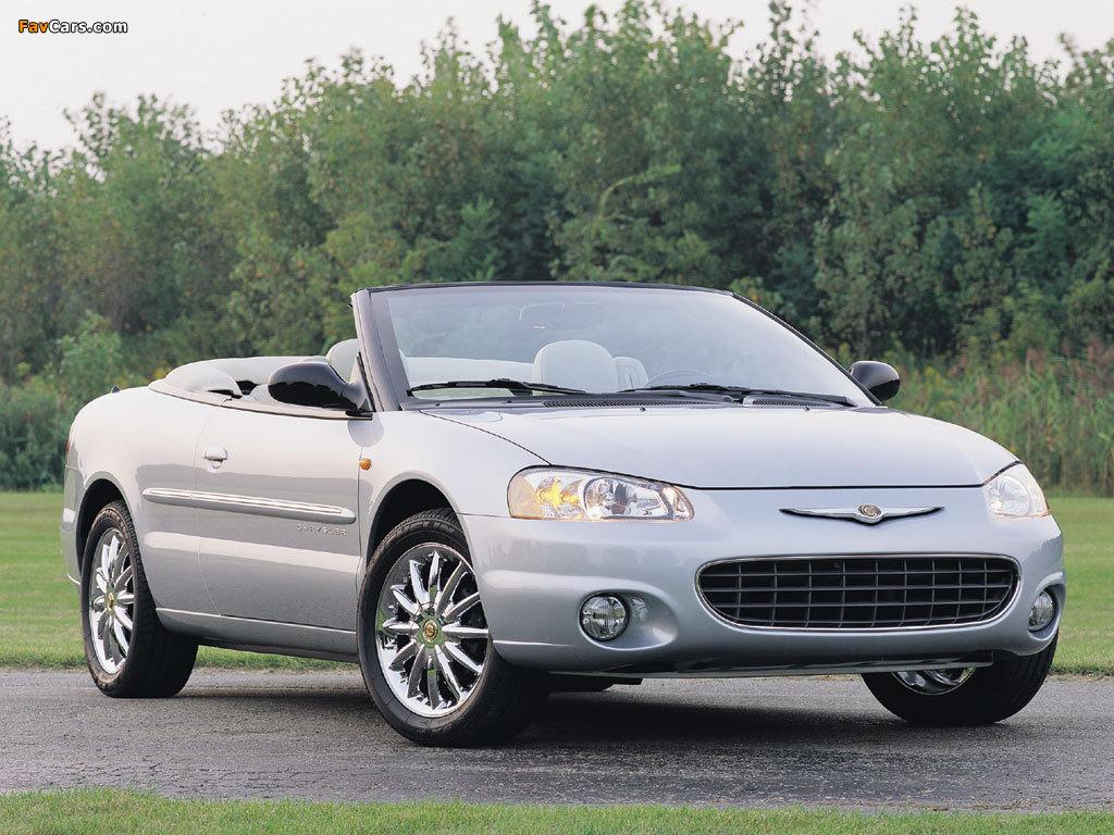 Chrysler Sebring Convertible 2001–04 photos (1024 x 768)